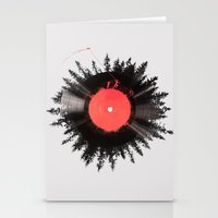 Stationery Card featuring The vinyl of my life by Robert Farkas