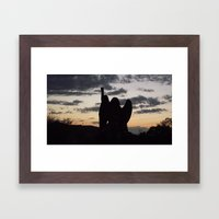 The Guardian of the Evening Framed Art Print