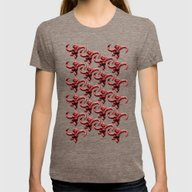Barrel Of Monkeys Patter… Womens Fitted Tee Tri-Coffee MEDIUM