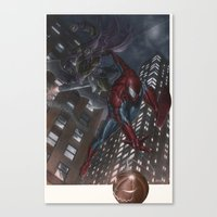 Spiderman vs Goblin Canvas Print
