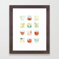Cocktail Hour: Classic Cocktails Poster Framed Art Print
