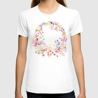 Soft bunnies pink Womens Fitted Tee White SMALL
