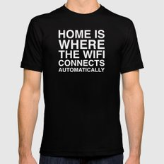 Home Mens Fitted Tee SMALL Black