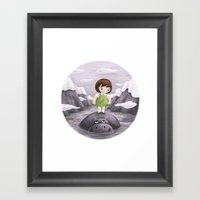 Lily and Hippo  Framed Art Print