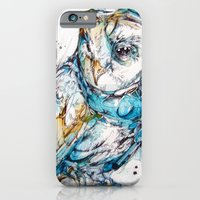 iPhone Cases featuring The Sea Glass Owl by Abby Diamond