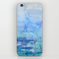 Watercolor Blue iPhone & iPod Skin