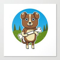 Dog & Bone Canvas Print