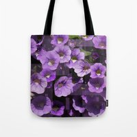 Purple Flower Kaleidoscope Tote Bag