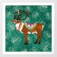 Reuben Reindeer Art Print