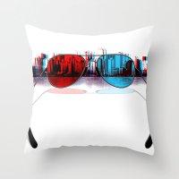 3D City Throw Pillow