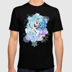 Some People Are Worth Melting For. Mens Fitted Tee Black SMALL