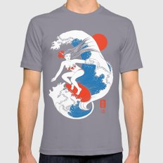 Back To The Water / Original A4 Illustration / Pen & Ink SMALL Mens Fitted Tee Slate