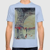 Winter in Paris Mens Fitted Tee Athletic Blue SMALL