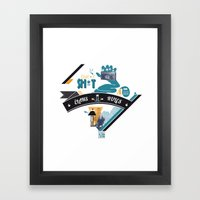 L. Framed Art Print