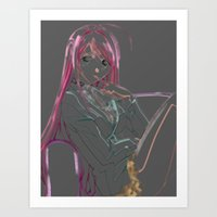 anime Art Prints featuring Anime by RickOlson