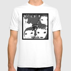 Revolver White SMALL Mens Fitted Tee