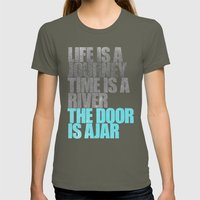 The Door is Ajar Womens Fitted Tee Lieutenant SMALL
