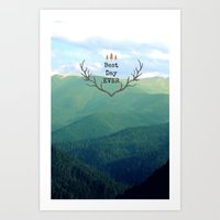 Best Day Ever! Art Print