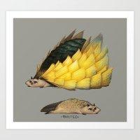 Golden Platypowl Art Print