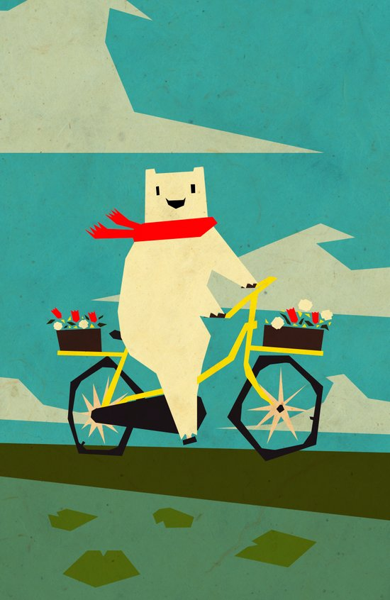 Yeti Taking a Ride Art Print