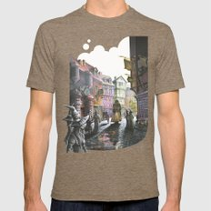 Diagon Alley Mens Fitted Tee Tri-Coffee SMALL