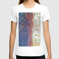 entropic floral dreams Womens Fitted Tee White SMALL