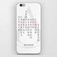ASSASSINS (White) iPhone & iPod Skin