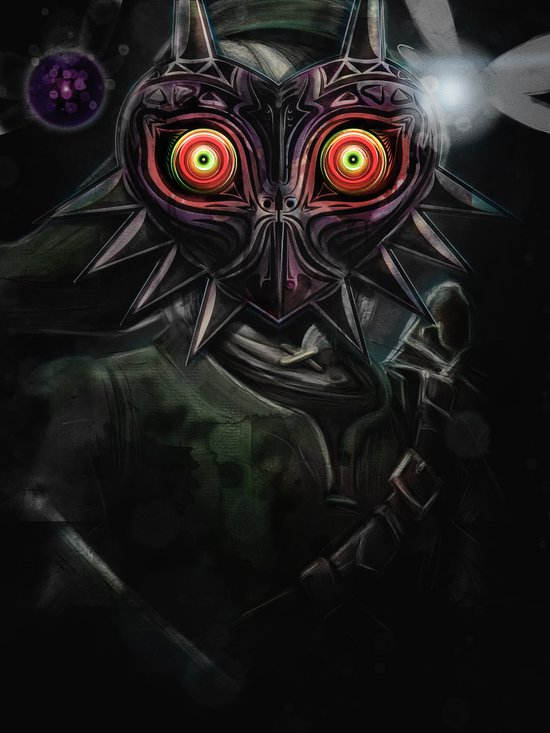 Legend of Zelda Majora's Mask Link Canvas Print