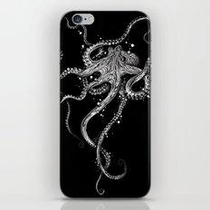 Octopus (black) iPhone & iPod Skin