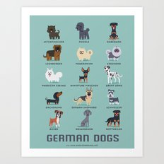 GERMAN DOGS Art Print