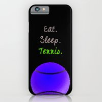 Eat. Sleep. Tennis.  (White with Pink) iPhone 6 Slim Case