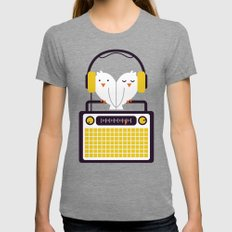 Radio Mode Love Womens Fitted Tee Tri-Grey SMALL