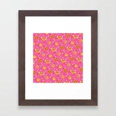 Sailor Moon Brooches Pattern - Pink / Sailor Moon Framed Art Print