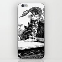 When I think about you, flowers grow out of my brain. iPhone & iPod Skin