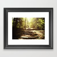 Up The Down Stairs Framed Art Print