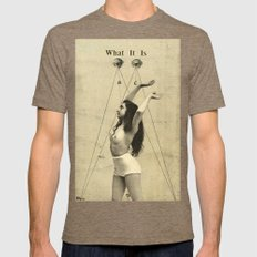 WHAT IT IS Mens Fitted Tee Tri-Coffee SMALL