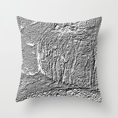 Black and white concrete texture Throw Pillow