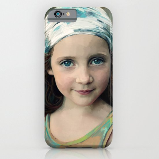 Dancer at Dusk - portrait painting of a young girl iPhone & iPod Case