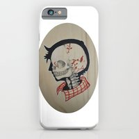 iPhone Cases featuring Boy Next Door - Silhouette and Anatomy Love Painting by Joy Chokchai
