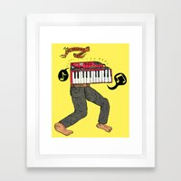 The keyboard man Framed Art Print