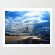 Dawn On The Beach Art Print