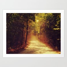 Dusty road Art Print
