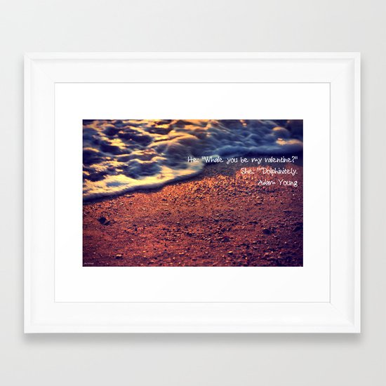 Sea romance Framed Art Print