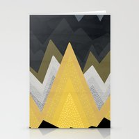 Gold In The Mountains Stationery Cards