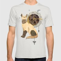 victoria  Mens Fitted Tee Silver SMALL