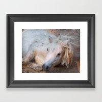 My little horse Framed Art Print