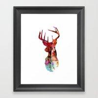 Deer Silhouette (in color) Framed Art Print