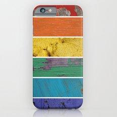 texture rainbow iPhone 6s Slim Case