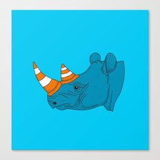 Rhino Video Player Canvas Print