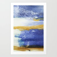PAINTED WITH THE BLUES Art Print